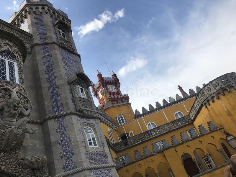 Palais de Pena dans le sintra Portugal photographie stock libre de droits