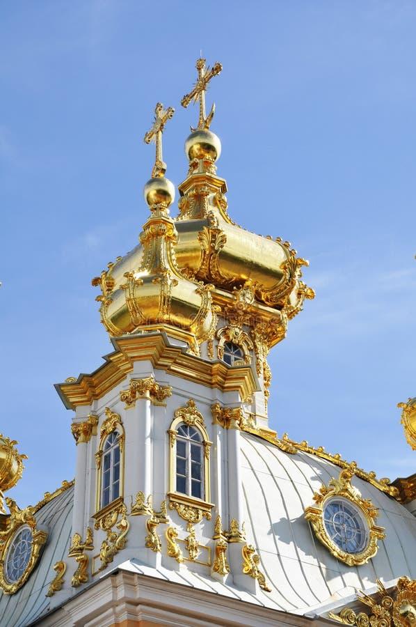 Palais de Peterhof dans le St Petersbourg Russie photographie stock libre de droits