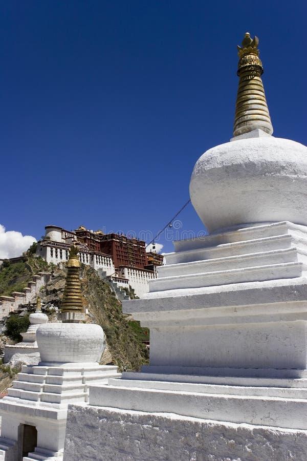 Palais de Potala à Lhasa photo stock