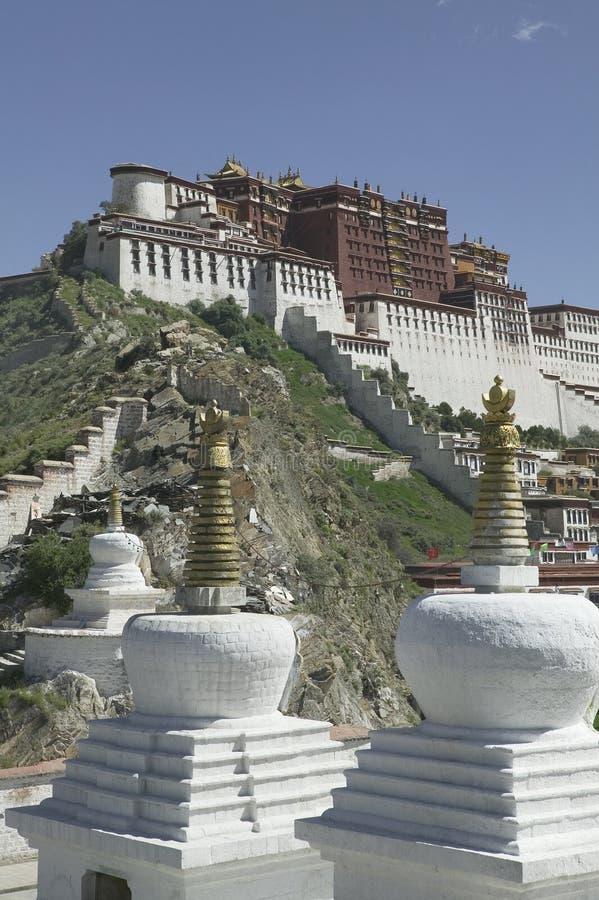 Palais de Potala à Lhasa photos stock