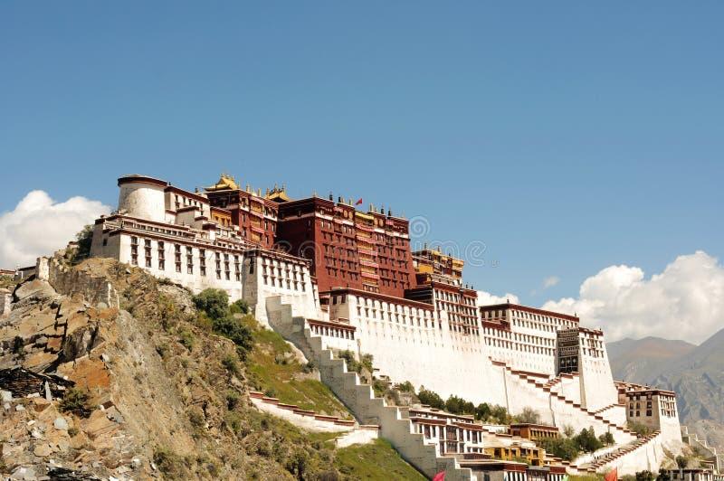 Palais de Potala à Lhasa, Thibet image libre de droits