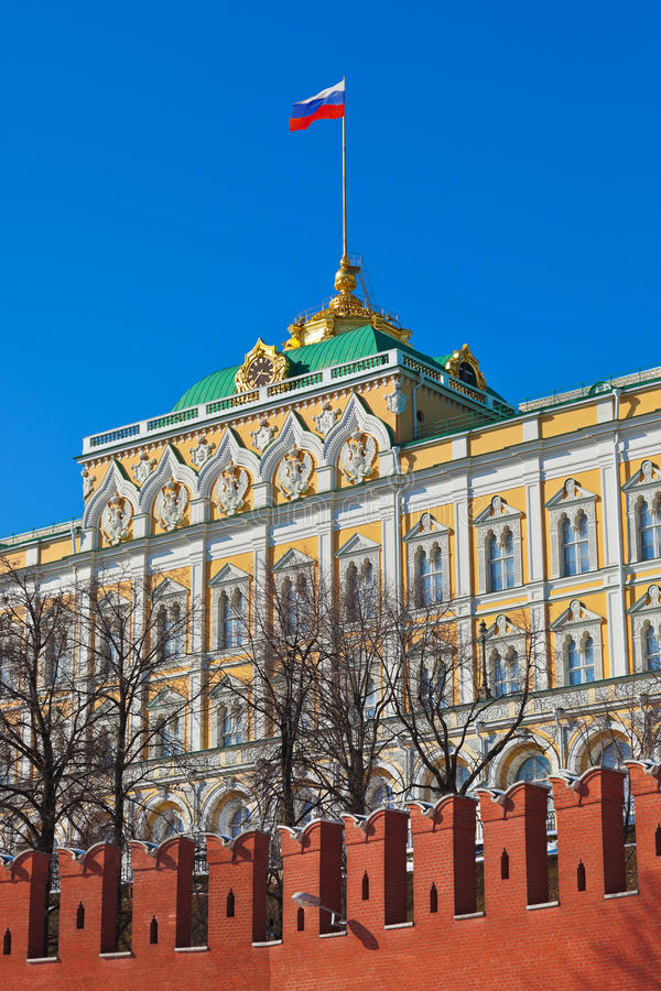 Palais de président dans Kremlin Moscou (Russie) photo libre de droits