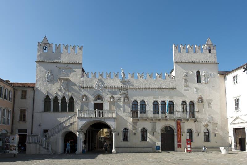 Palais de Pretorska dans Koper photographie stock libre de droits