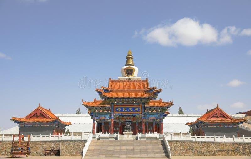 Palais de prince Alashan à l'Inner Mongolia, Chine image stock