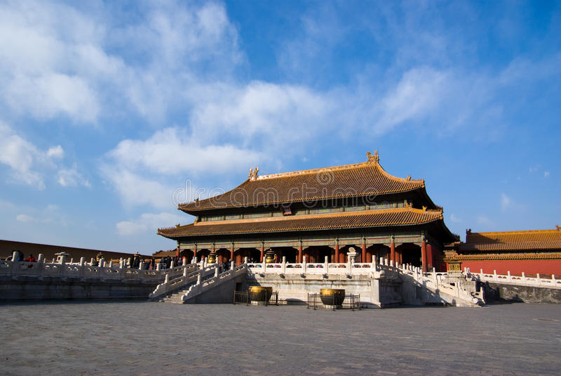 Palais de Qian Qing images stock
