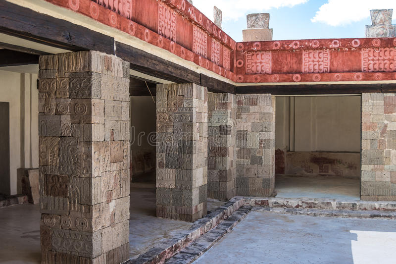 Palais de Quetzalpapalotl photographie stock libre de droits