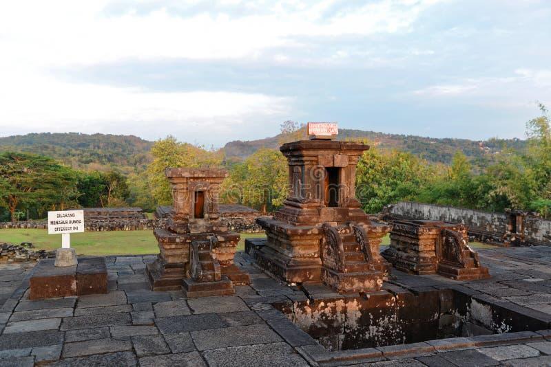 Palais de Ratu Boko images stock