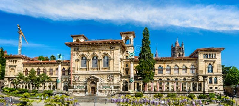 Palais de Rumine à Lausanne photo libre de droits