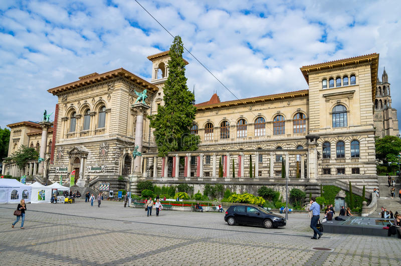 Palais de Rumine Lausanne, Suisse, l'Europe photo stock