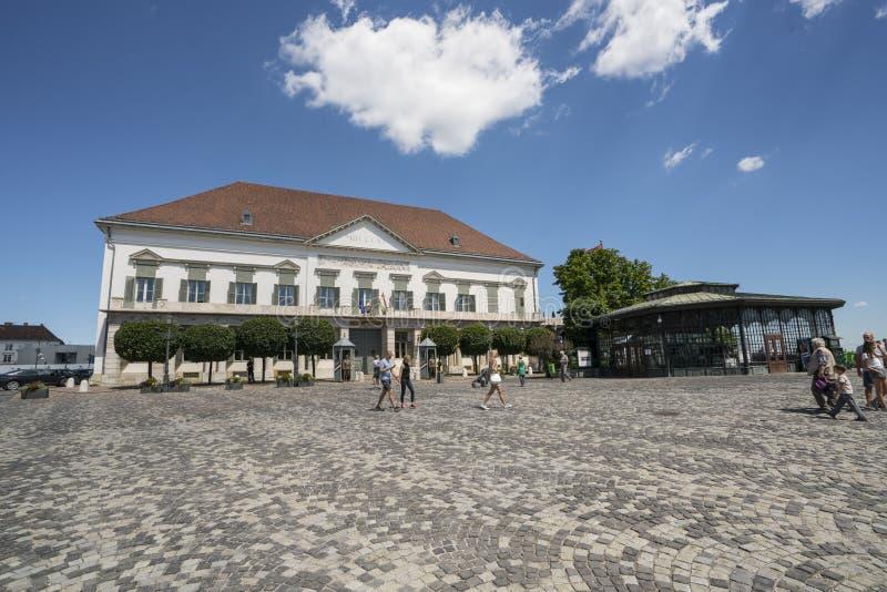 Palais de Sandor à Budapest images libres de droits