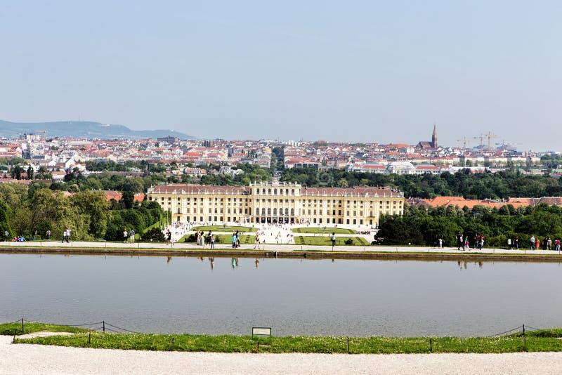 Palais de Schonbrunn à Vienne stockbild