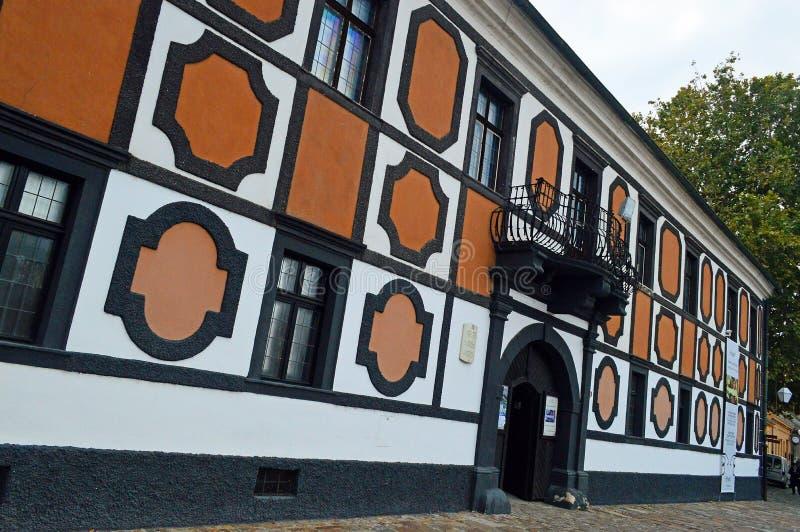 Palais de Sermage dans la vieille ville de, Varazdin, Croatie images stock