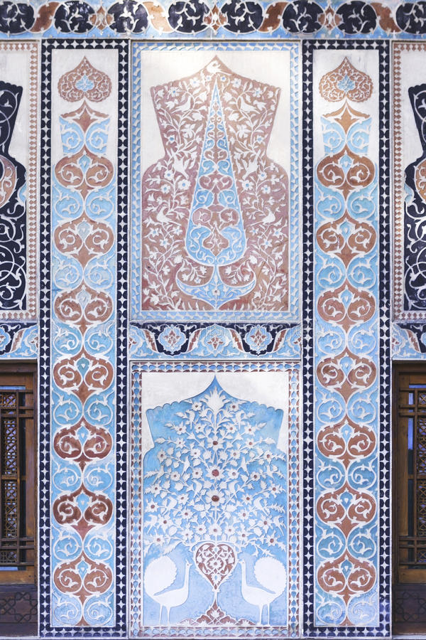 Palais de Shaki Khans en Azerbaïdjan images stock