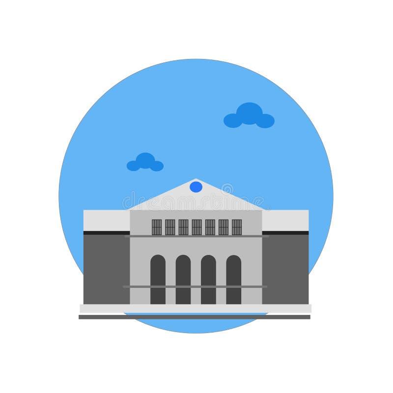 Palais de signe et de symbole de vecteur d'icône de Versailles d'isolement sur le whi illustration de vecteur