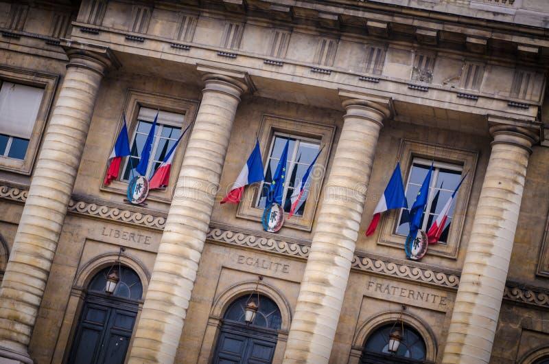 Palais De Sprawiedliwość w Paryskim Francja zdjęcia stock