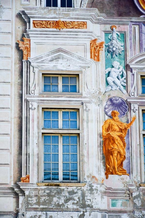 Palais de St George à Gênes, Italie images libres de droits