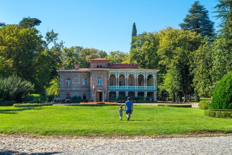 Palais de Tsinandali et jardin, musée de Chambre de Chavchavadze - Kakhet photo stock