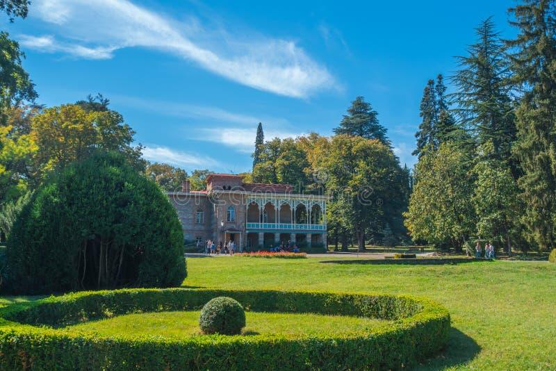 Palais de Tsinandali et jardin, musée de Chambre de Chavchavadze - Kakhet images libres de droits