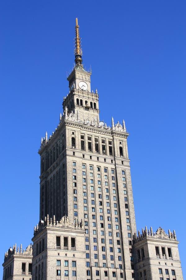 Palais de Varsovie de culture et de la Science images libres de droits