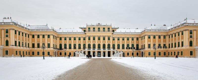 Palais de Vienne - de Schonbrunn d'est en hiver images stock