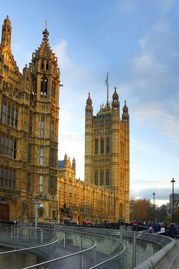 Palais De Westminster, Chambres Du Parlement, Londres Photographie éditorial