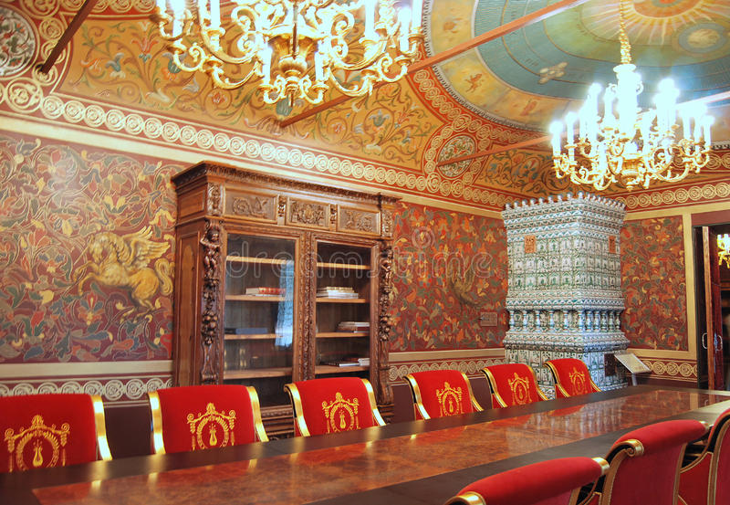 Palais de Yusupov à Moscou. L'étude du prince. images stock