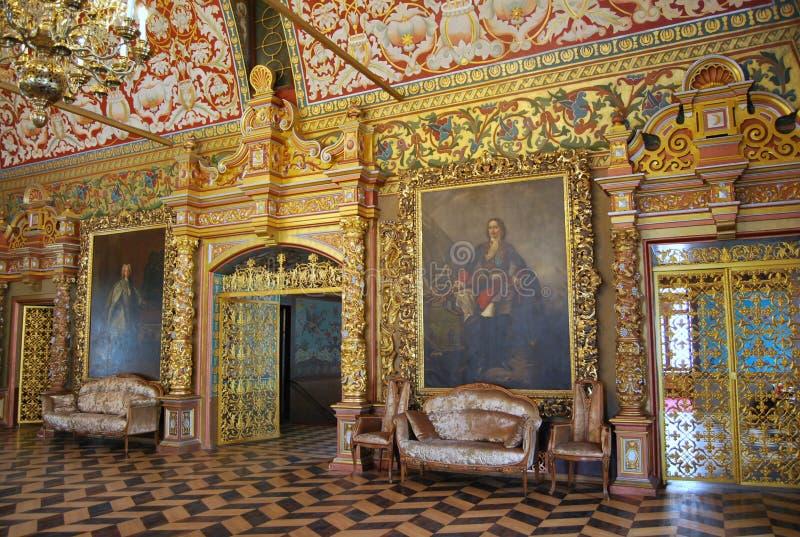 Palais de Yusupov à Moscou. La salle de trône. image libre de droits