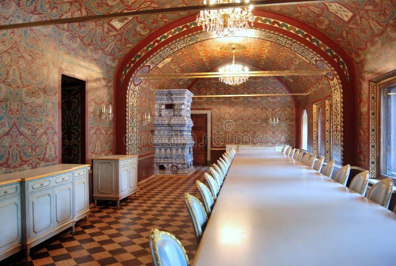 Palais de Yusupov à Moscou. Réfectoire. images stock