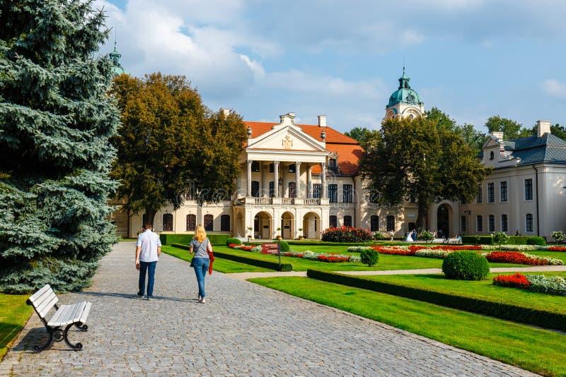 Palais de Zamoyski dans Kozlowka C'est un grand complexe rococo et néoclassique de palais situé dans Ko photos libres de droits