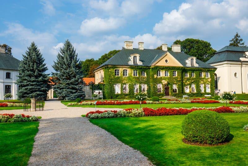 Palais de Zamoyski dans Kozlowka C'est un grand complexe rococo et néoclassique de palais situé dans Ko image libre de droits
