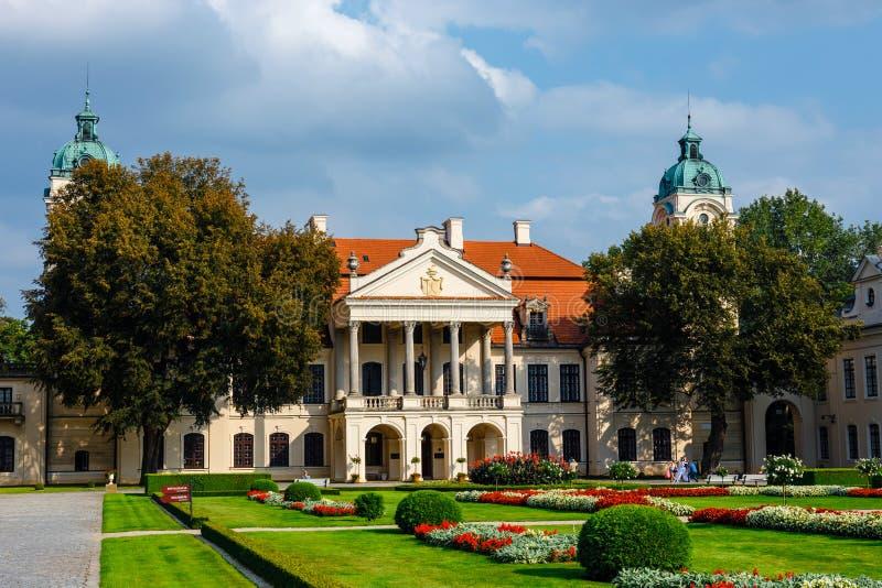 Palais de Zamoyski dans Kozlowka C'est un grand complexe rococo et néoclassique de palais situé dans Ko photo libre de droits
