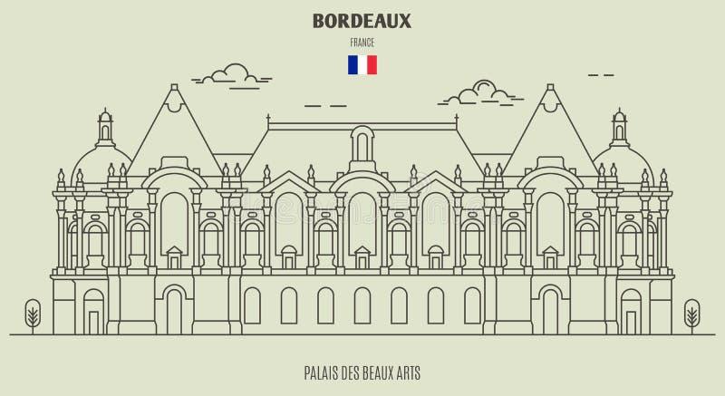 Palais des Beaux-Arts in Lille, France. Landmark icon vector illustration