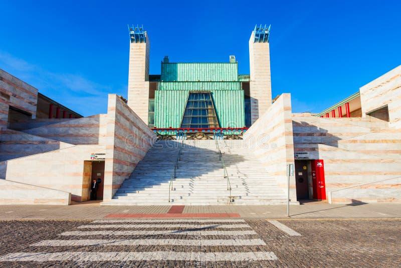 Palais des festivals à Santander image libre de droits