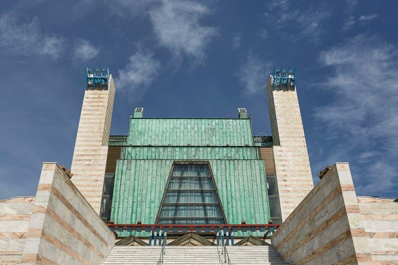 Palais des festivals ou du Palacio de Festivales De la Cantabrie en San photos stock
