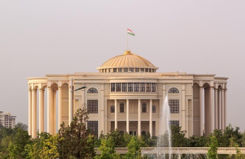 Palais des narody w ranku, Dushanbe, Tajikistan zdjęcia royalty free