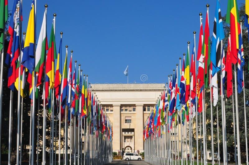 Palais DES-Nationen Genf lizenzfreies stockfoto
