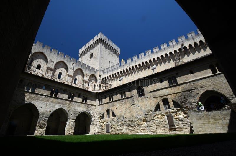 Palais des Papes, Avignon arkivfoton