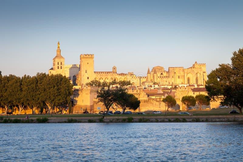 Palais des Papes in Avignon, Provence, France stock image