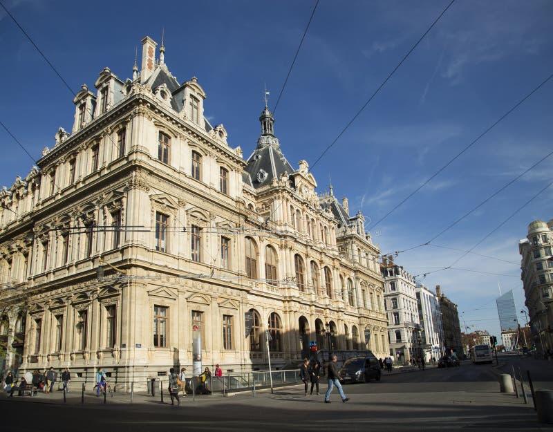 Palais du Commerce在利昂,法国 免版税库存图片