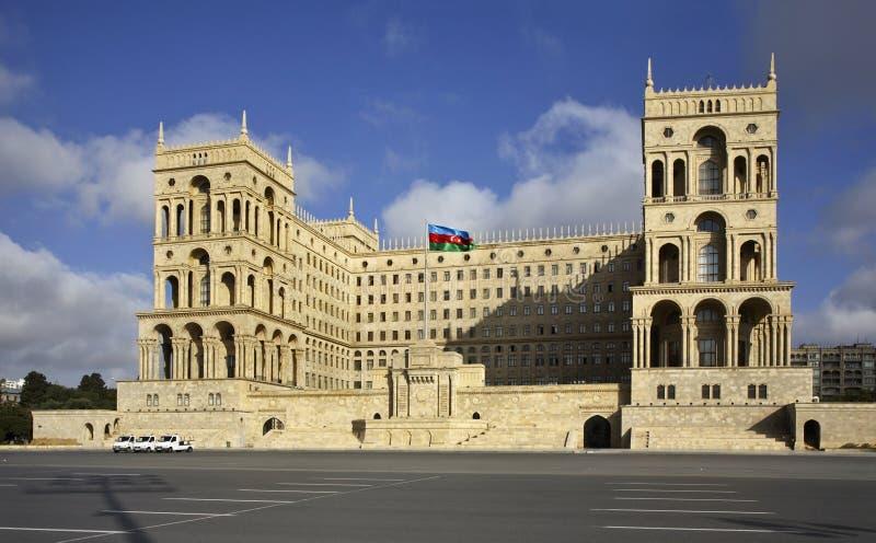 Palais du gouvernement de l'Azerbaïdjan à Bakou l'azerbaïdjan image libre de droits