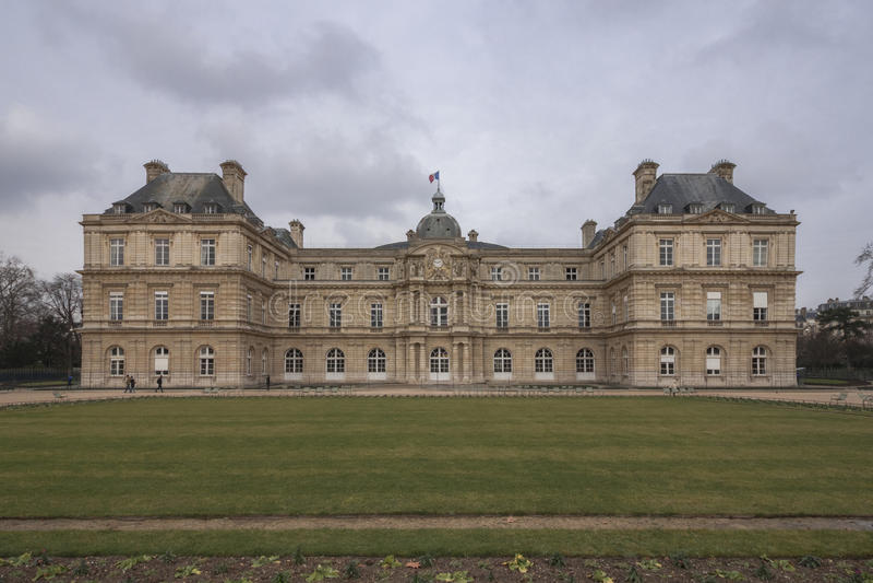 Palais du Lussemburgo, il palazzo nei giardini del Lussemburgo, Parigi, Francia immagine stock libera da diritti