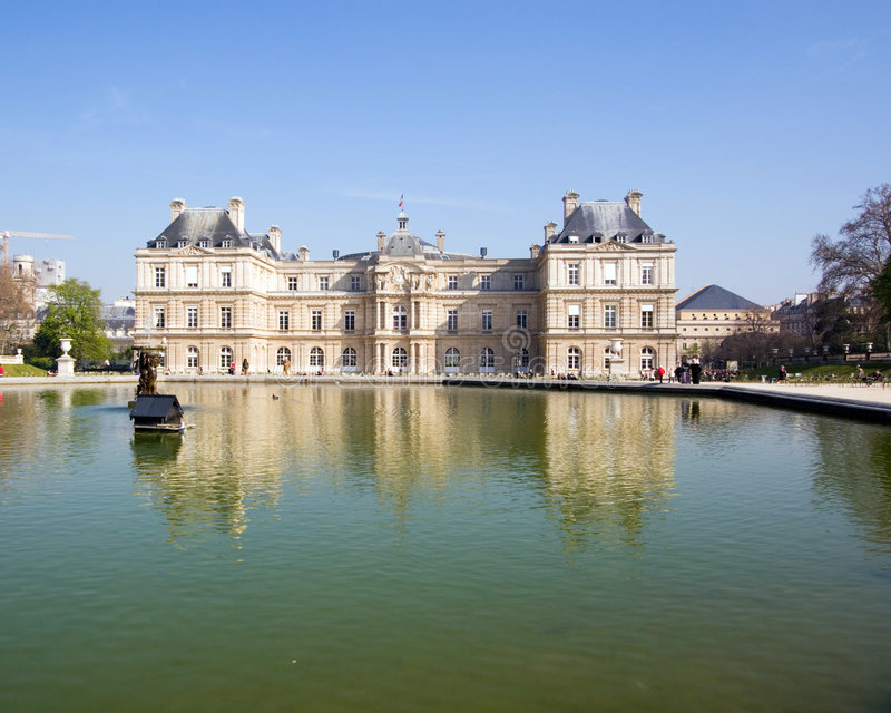 Palais du Luxembourg royalty free stock image