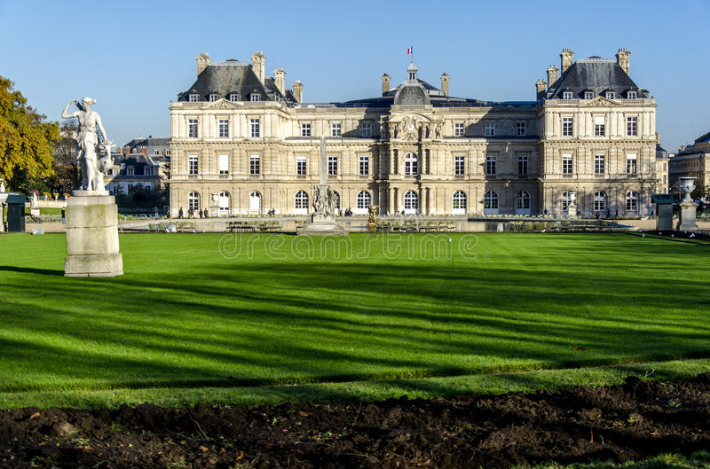 Palais du Luxemburg. Parijs. Frankrijk. stock fotografie