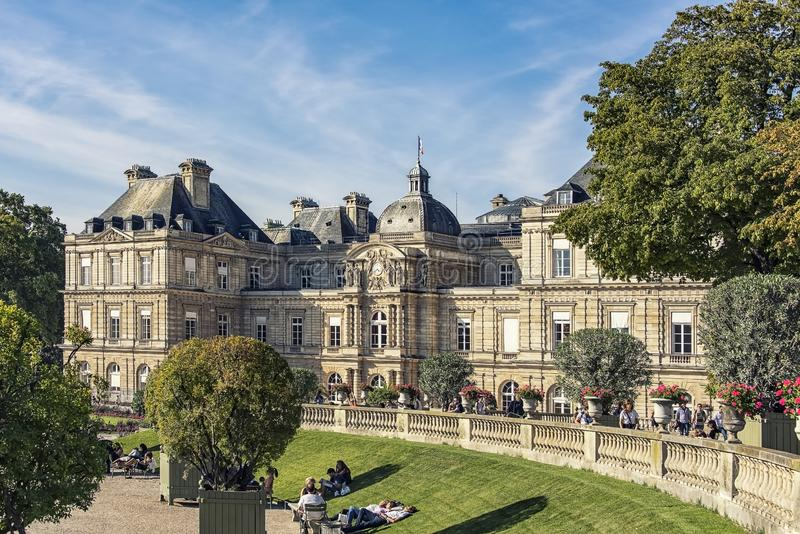 Palais du Luxemburg in Parijs royalty-vrije stock foto