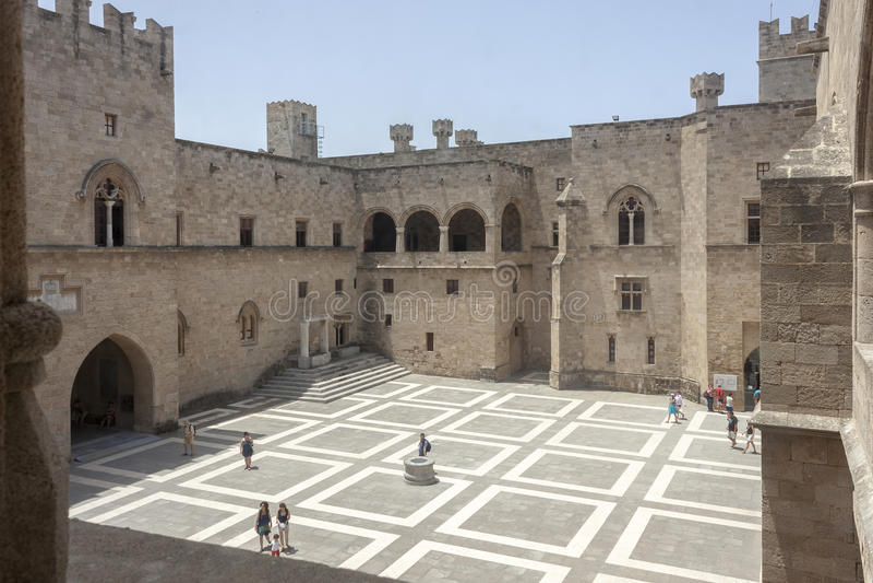Palais du maître grand, Rhodes photos libres de droits