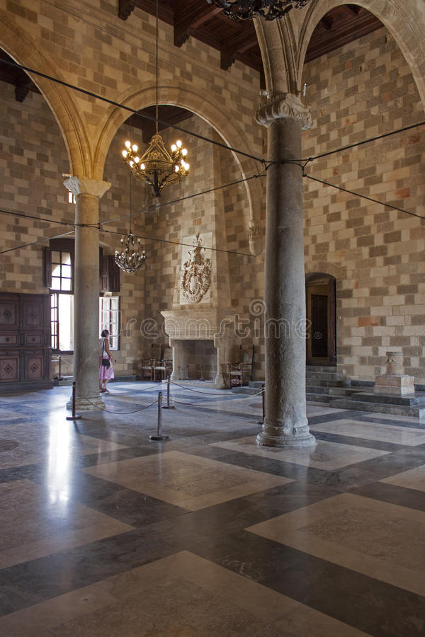 Palais du maître grand, Rhodes image libre de droits