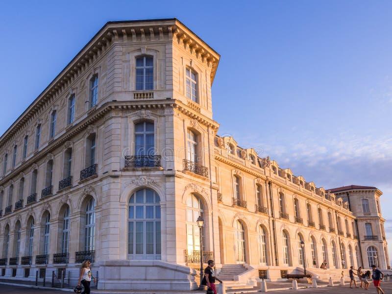 Palais du Pharo在马赛,法国 库存照片