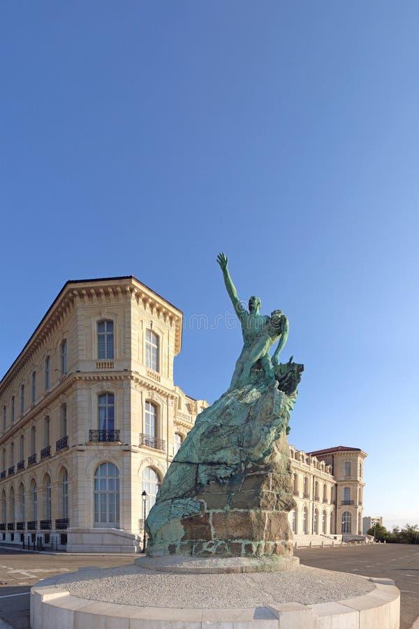 Palais du Pharo à Marseille images libres de droits