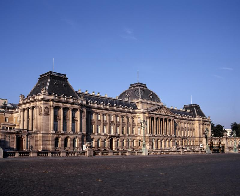 Palais du Roi, Brussel, België. stock foto's