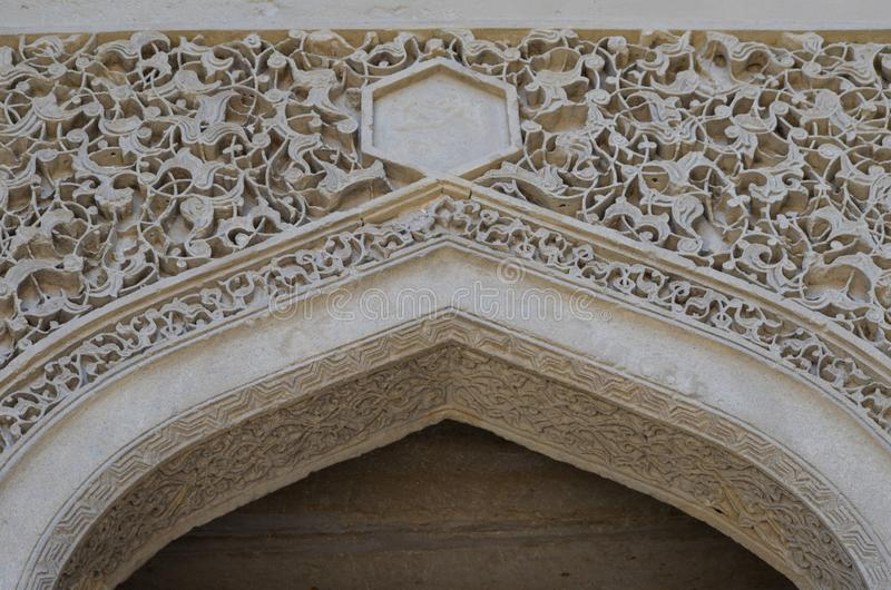 Palais du Shirvanshahs dans la vieille ville de Bakou, capitale de l'Azerbaïdjan photo stock